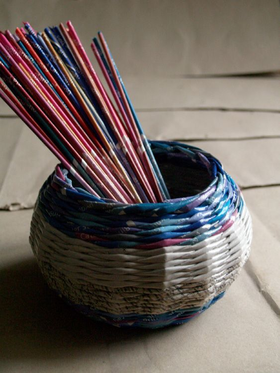 recycled paper basket * BluReco