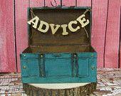 SALE-Wedding Advice Box, Turquoise Card Box, Shabby Chic Wedding Decor, Shabby Chic Advice or Card Box