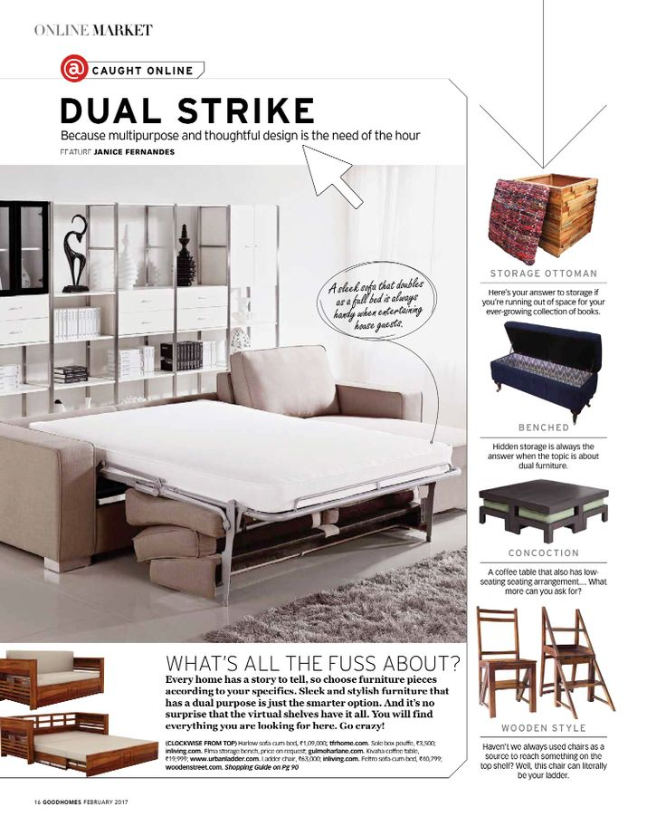 Because multipurpose and thoughtful design is the need of the hour!  Thank you GoodHomes for featuring our Elma Storage Bench.  Product Link - http://www.gulmoharlane.com/products/elma-tufted-storage-bench