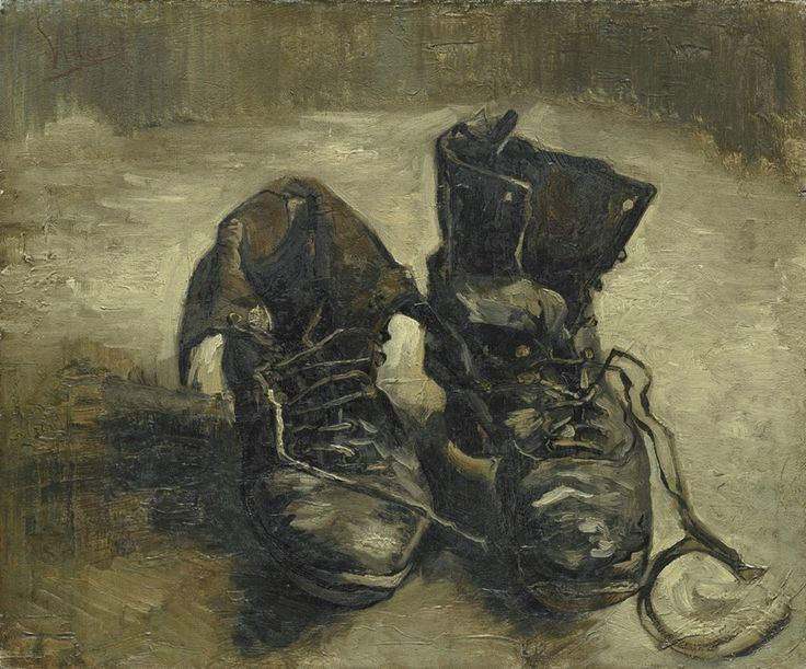 Art of the Day: Van Gogh, Shoes, September-November 1886. Oil on canvas, 38.1 x 45.3 cm. Van Gogh Museum, Amsterdam.