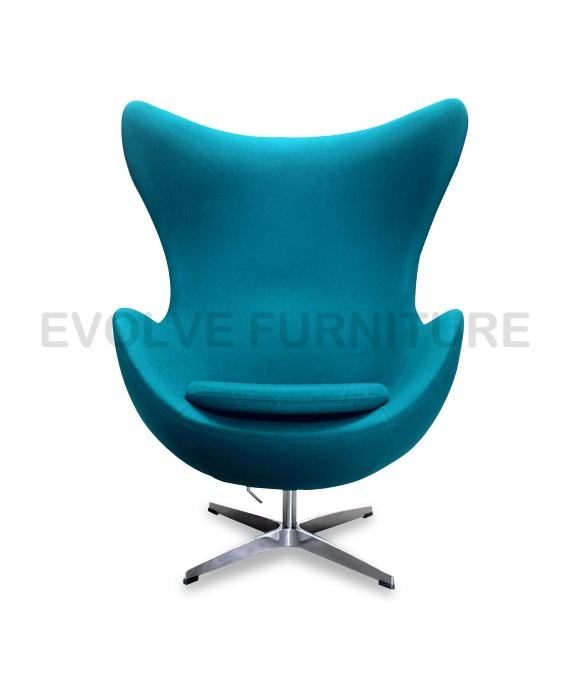 NEW EGG LOUNGE CHAIR - Replica Arne Jacobsen Premium Turquoise wool blend   eBay http://emfurn.com/collections/home-chairs