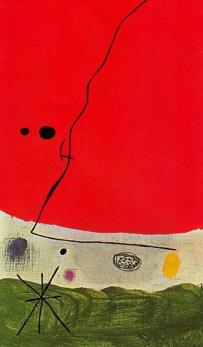 'Pájaro en la noche', huile de Joan Miro (1893-1983, Spain)
