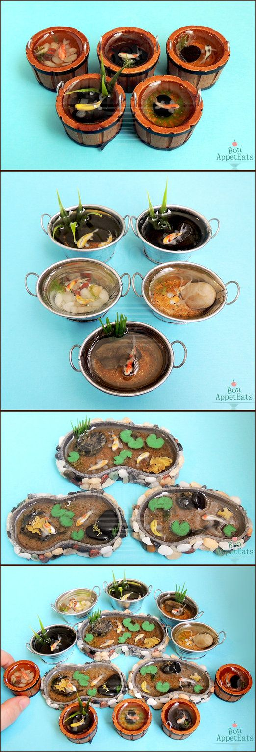 Misc 1:12 Koi Ponds and Containers by Bon-AppetEats on DeviantArt