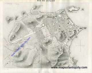 Rio-de-Janeiro-Brazil-Antique-Map South America Maps of Antiquity