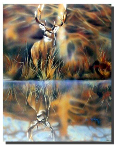 aBring home a bit of nature by getting this stunning whitetail buck deer wild animal art print poster. This contemporary style poster reflects the harmony and beauty in the world of nature. So Hurry up and buy this charming wall poster for its wonderful paper quality with perfect color accuracy.