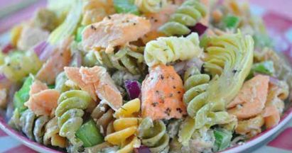 Salmon Pasta Salad | Going to try these recipes | Pinterest