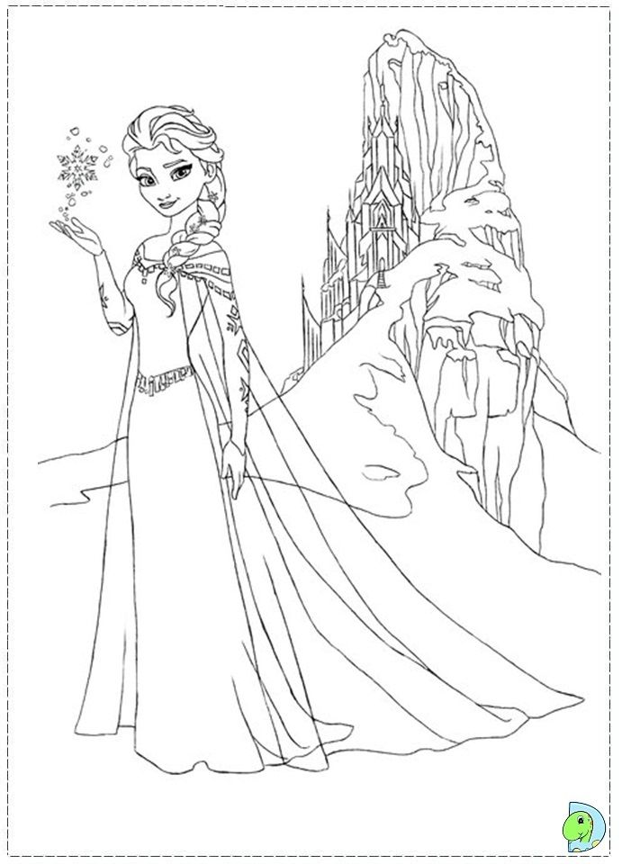 Coloring Pages For Elsa : Frozen thema tekenen kleurplaten disney pinterest