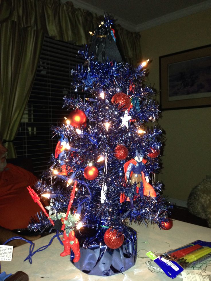 This is my grandson's Super Hero Christmas Tree! His ...