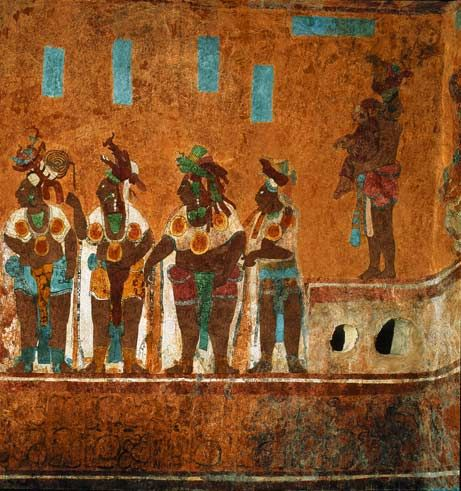 17 best ideas about ancient maya art on pinterest maya for Aztec mural painting