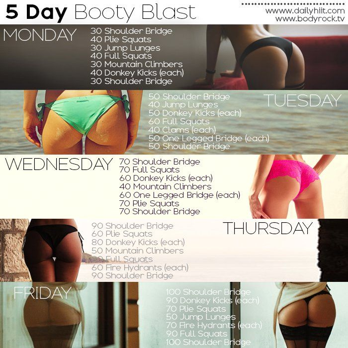 5 Day Booty Blast Workout