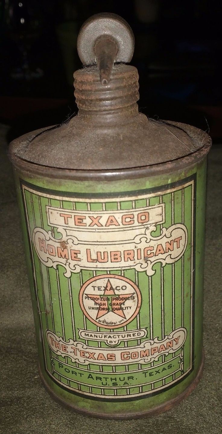 Rare Texaco 4oz home lube can