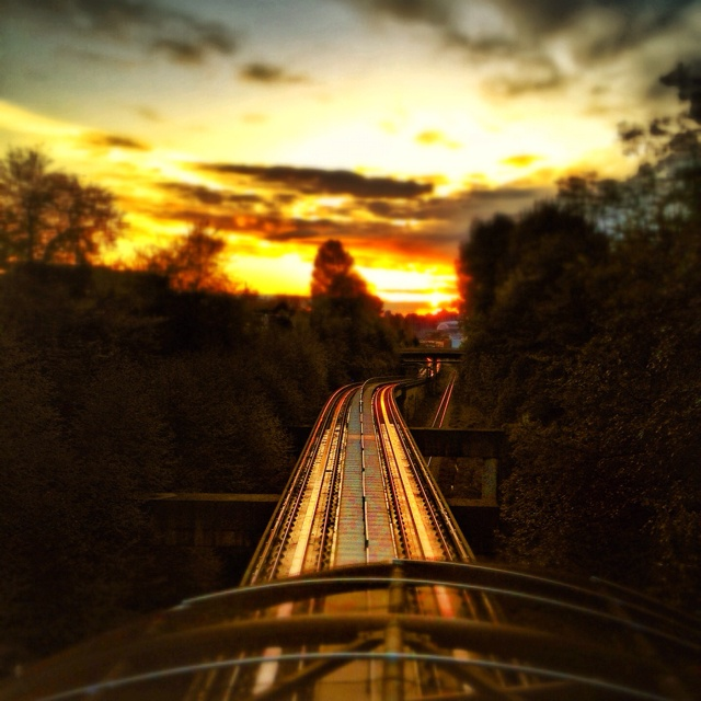 Great sunset shot on skytrain rails
