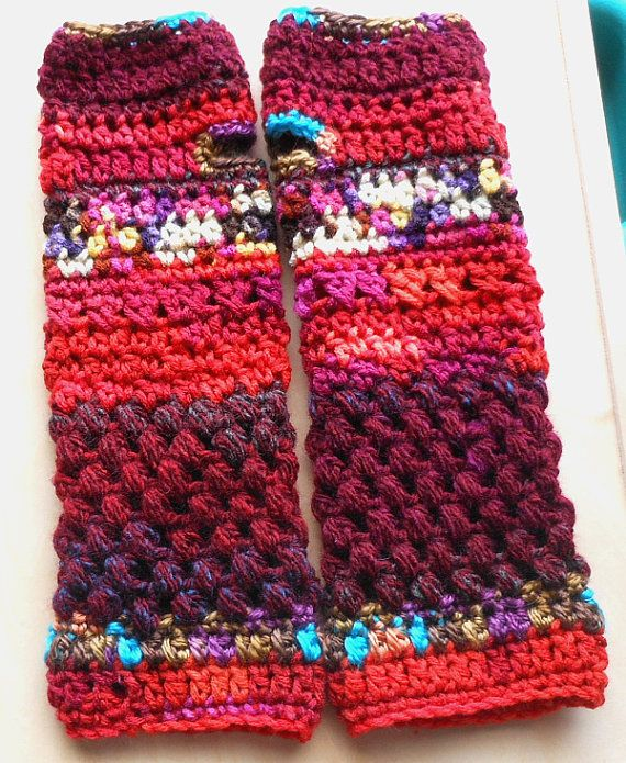 Handmade Crocheted 11 1/2 Inches Long Hand Warmers by TSCrocheted, $25.00