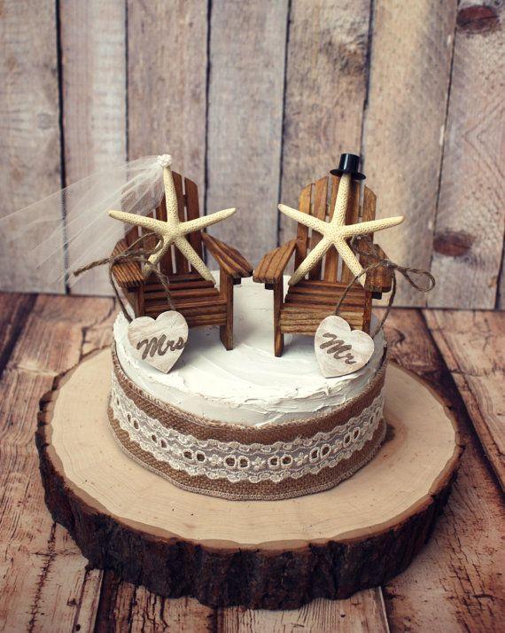 Starfish Wedding Cake Topper Adirondack By MorganTheCreator