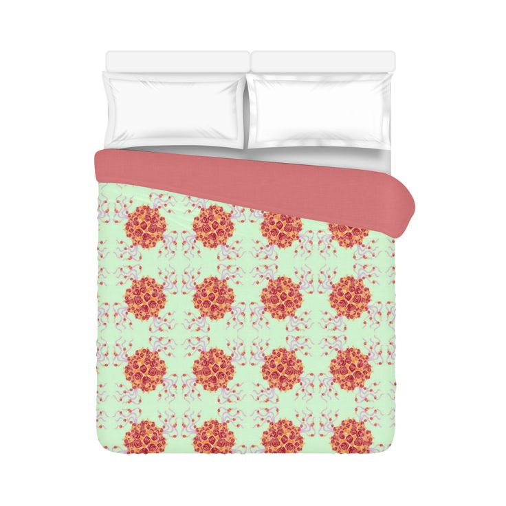 """Bouquet Large Duvet Cover 86""""x70"""" ( All-over-print)"""