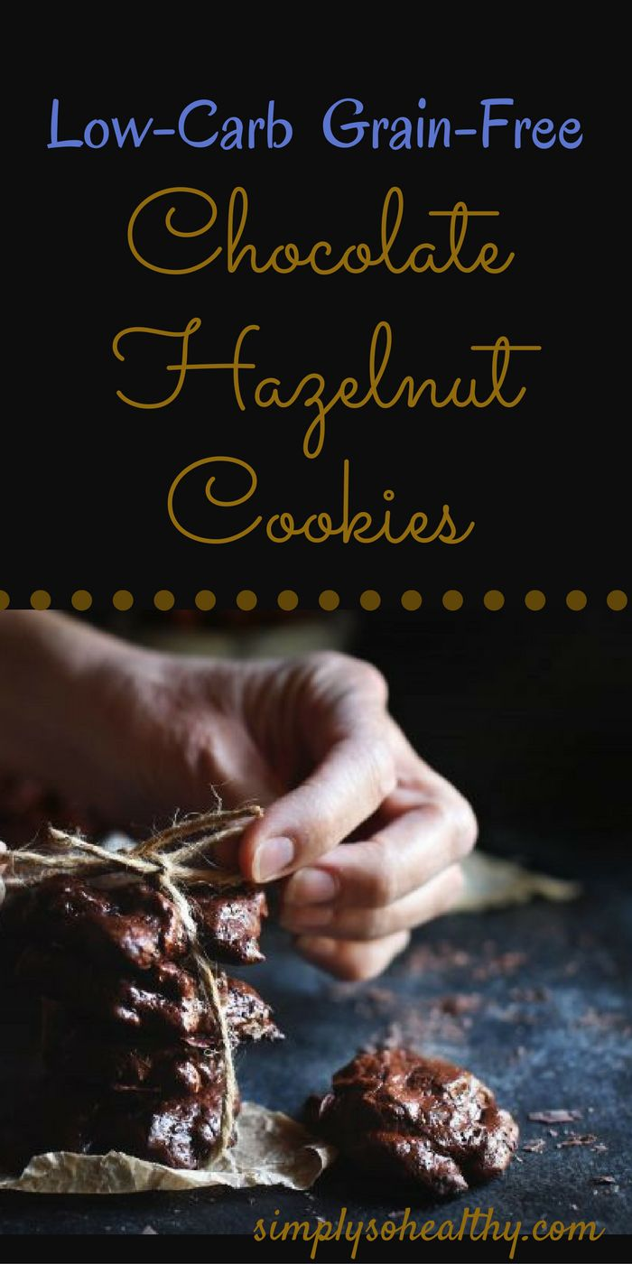 This low-carb chocolate hazelnut cookies recipe makes cookies with intense chocolate flavor. They are an ideal treat for chocolate lovers on low-carb, diabetic, ketogenic, Atkins, or Banting diets. Perfect as a holiday cookie!