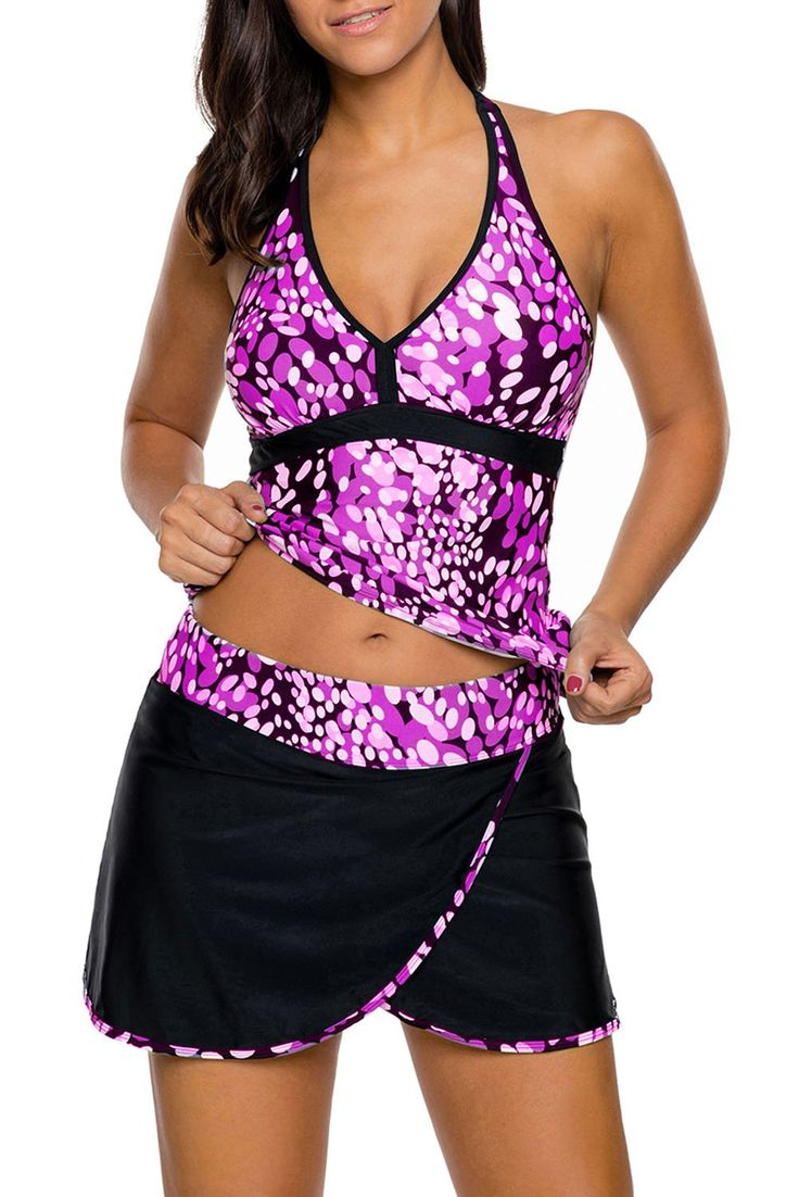 Try latest Chicloth Purple W.... http://chicloth.com/products/chicloth-purple-white-spots-v-neck-tankini-wrapped-skirt-swimsuit?utm_campaign=social_autopilot&utm_source=pin&utm_medium=pin