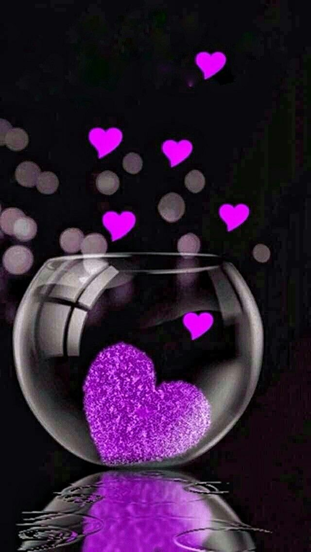 Purple Hearts Heart Wallpaper Love Heart Images Flower Phone Wallpaper