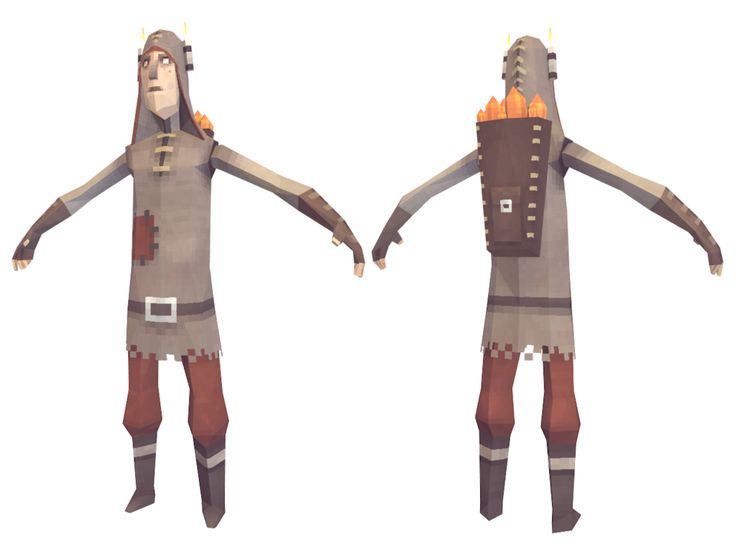 Lowpoly Miner by lithium-sound.deviantart.com on @deviantART