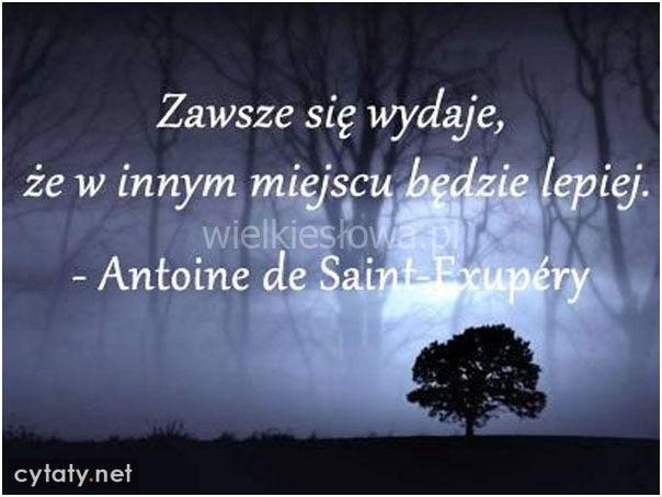 Zawsze się wydaje... #SaintExupery-Antoine-De, #Życie