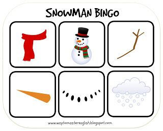 snowman, bingo, snow, wnter, games, primary school