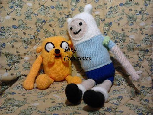 Finn y jake  Tejidos al crochet