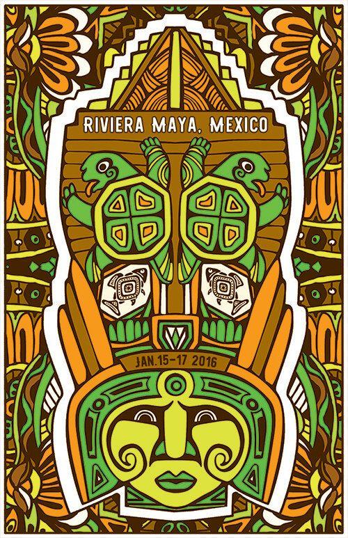 Phish Poster - Riviera Maya, MEXICO 2016 by MariaDdesigns on Etsy https://www.etsy.com/listing/264575046/phish-poster-riviera-maya-mexico-2016