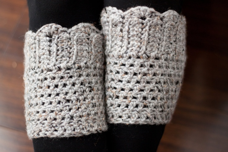Crochet Pattern- Scallop Boot Cuffs. $5.00, via Etsy.