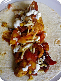 Chicken Wrap - fillings made using the ActiFry