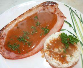 Jambon grillé à la plancha sauce madère - amafacon