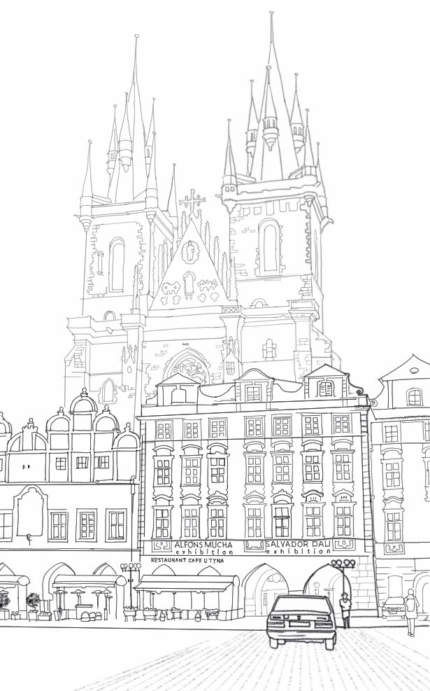 Journal on Product Design and Development: Cathedral Behind Cafe In Old Town Square, Prague