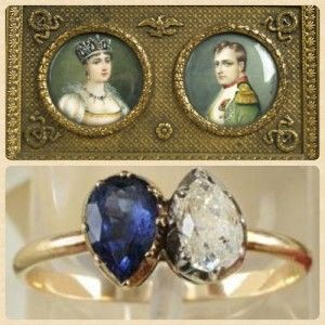 Sapphire and Diamond Engagement Ring Given to Josephine by Napoleon I in 1796 Photo Credit: PeachyJean