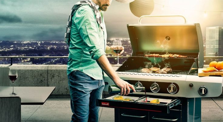 Grill gazowy Siesta 412 Barbecook Biokominki,Grille ogrodowe,Drzwi, Podłogi,Meble,Dekoracje