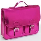 Pink Metallic Sling Bag