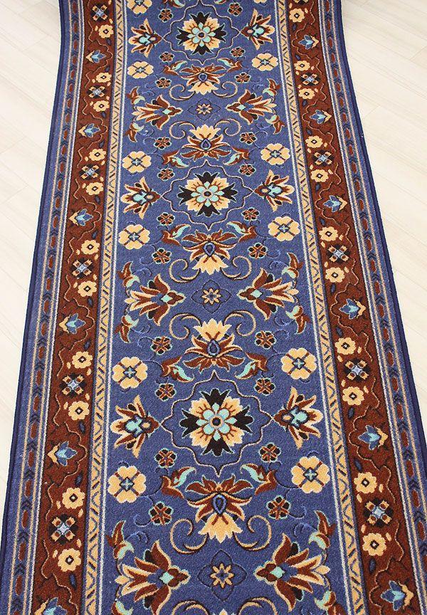 オーダー廊下カーペット 約80cm幅 ブルー グレイス(Y) :greisubl-2 ... オーダー廊下敷きカーペット 切り売り ブルー グレイス(Y)