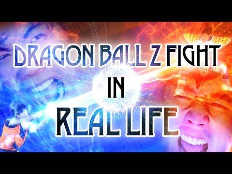 Real Life Dragon Ball Z Fight!  Pretty accurate!  Lol!