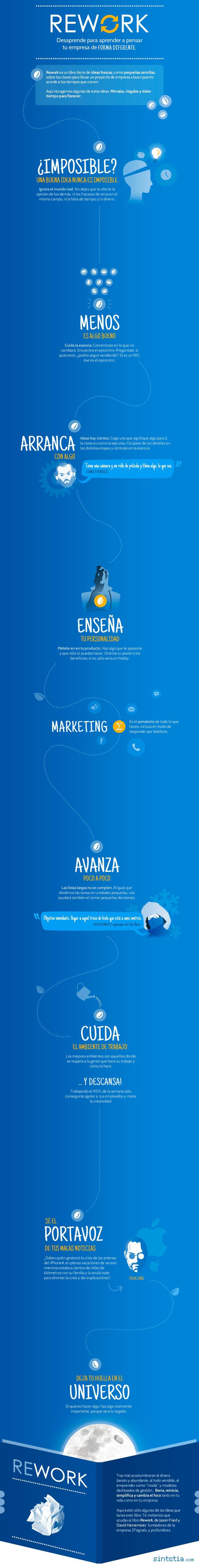 Rework: desaprende para pensar tu empresa de forma diferente #infografia