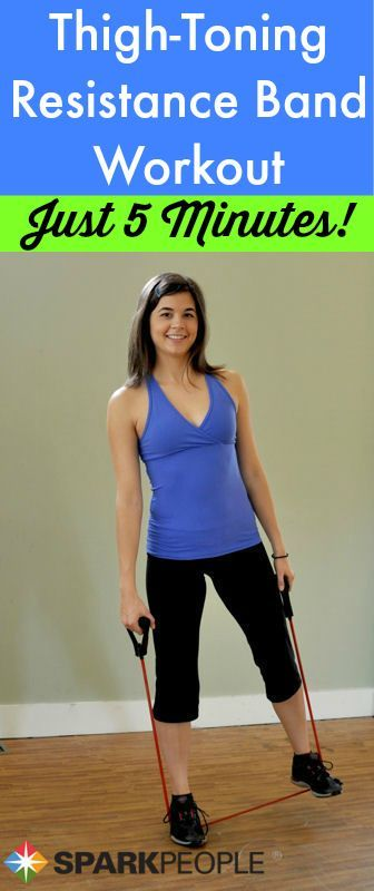 5-Minute Lower Body Workout with Band Video. Resistance bands are my favorite!  via @SparkPeople #fitness
