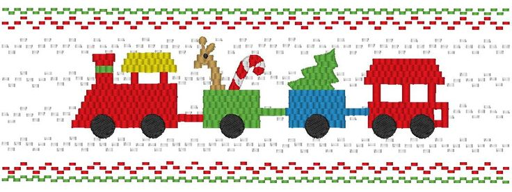Christmas Train Machine Smocking by Elizabeth's Embroideries http://www.elizabethsembroideries.com