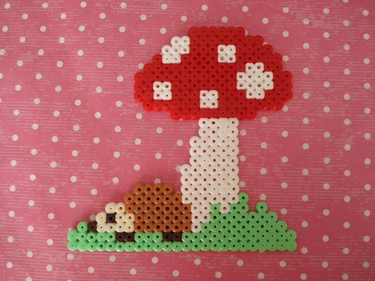Headgehog & toadstool Hama