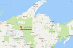The Sylvania Wilderness and Sylvania Recreation Area are located approximately seven miles from the town of Watersmeet in Michigan's Upper Peninsula.