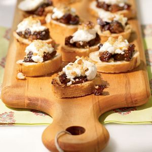 65Easiest Finger Foods Ever | Fig and Goat Cheese Bruschetta | MyRecipes