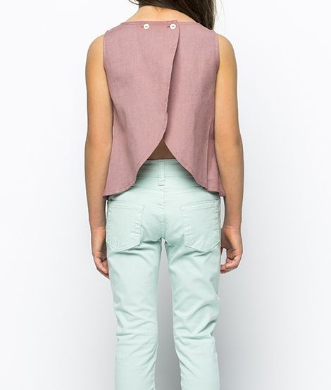 Camisa niña tulip rosa viejo | Nicoli