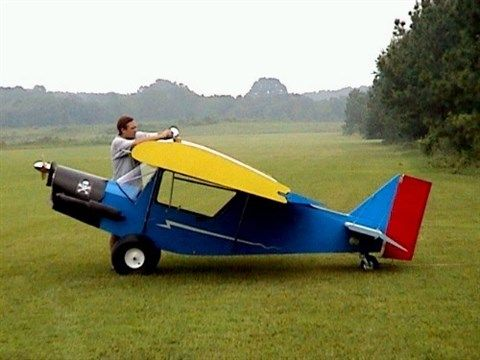 Small airplane ... or giant man