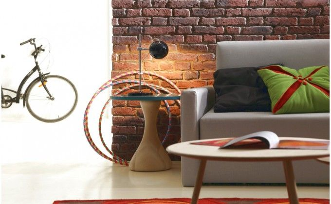 Faux Brick Wall Panels' Decorating Instruction With A Decor That Has A Gray Color Sofa