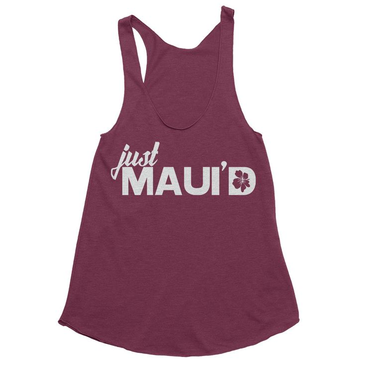 Hawaii Honeymoon Shirts - Just Maui'd Tank - Just Married Shirt - Hawaii Bride Tee - Wedding - Swimsuit Cover Up -  Bridal Shower Gift by GabeeTees on Etsy