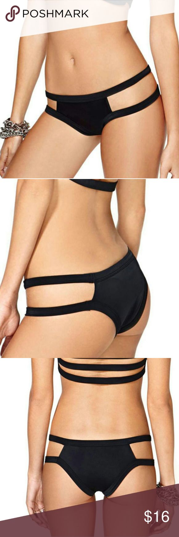 New! BLACK BANDIT Sexy Cut-out Caged Bikini Bottom New BLACK BANDIT Sexy Cut-out Banded Caged Back Bikini Bottom  Bikini Top sold separately, see other listing. Also available in Red.  Material: Polyamide+Elasthane Swim Bikinis