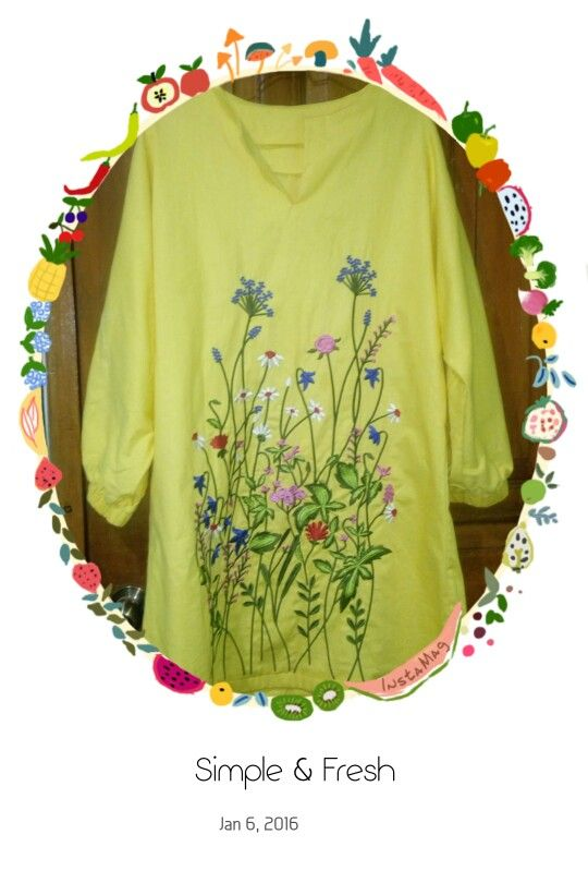 yellow lime tunic