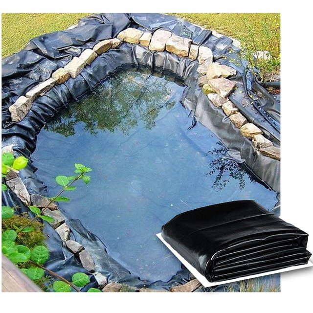 Fish Pond Liner Elasticity Black 20 X30 Flexible Water Garden New Hdop Hot Fish Pond Water Garden Pond Liner