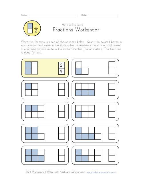 beginner fractions worksheet stuff to buy pinterest fractions worksheets math fractions. Black Bedroom Furniture Sets. Home Design Ideas